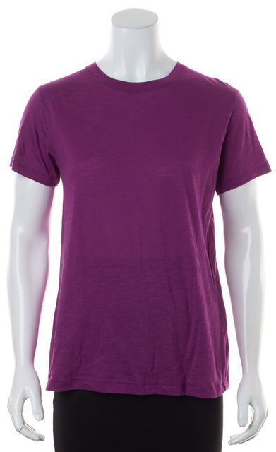 VINCE Purple Pima Cotton Short Sleeve Basic Tee T-Shirt