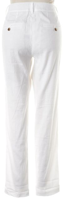 VINCE White Linen Trouser Dress Pants