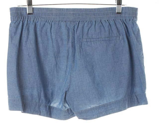 VINCE Blue Chambray Belted Casual Shorts