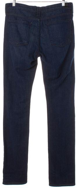 VINCE Dark Crimson Vintage Navy Blue Cigarette Straight Leg Jeans