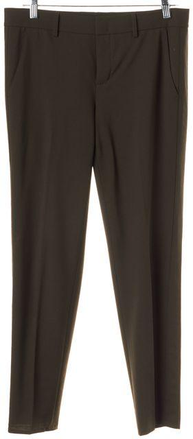 VINCE Green Wool Slim Tapered Leg Trousers Dress Pants
