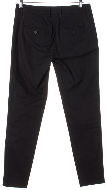 VINCE Black Cotton Slim Fit Casual Pants