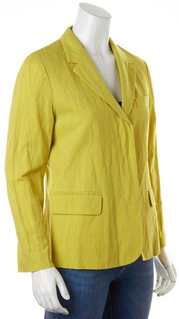 VINCE Chartreuse Green Hidden Closure Blazer Jacket