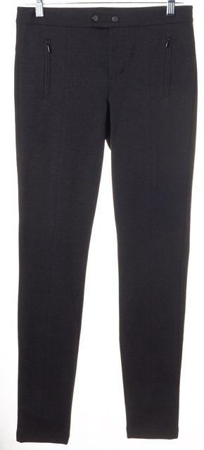 VINCE Dark Gray Stretch Ponte Center Seam Detail Skinny Leggings Pants