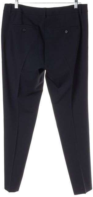 VINCE Navy Gray Wool Tuxedo Stripe Trouser Dress Pants