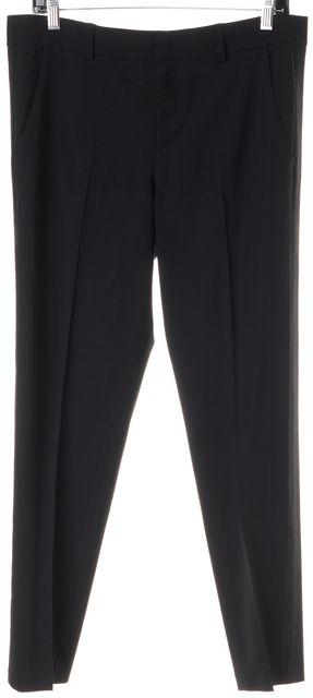 VINCE Black Wool Pleated Trouser Dress Pants