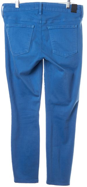 VINCE Bright Blue Stretch Cotton Riley Crop Ankle Legging Jeans