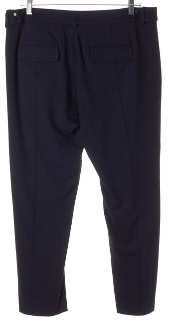 VINCE Navy Blue Side Buckles Slim Fit Tapered Leg Cropped Trousers Pants