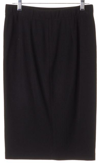 VINCE Black Stretch Knit Skirt