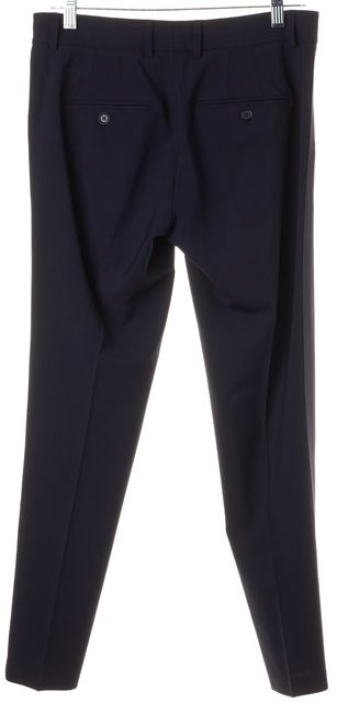VINCE Navy Blue Wool Pleated Trouser Dress Pants