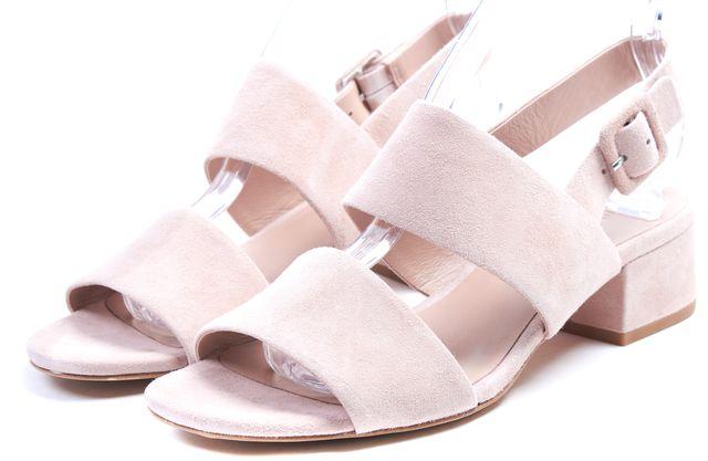 VINCE Blush Pink Suede Block Heeled Taye City Sandals