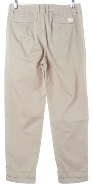VINCE Beige Pumice Cotton Cropped Chinos Pants