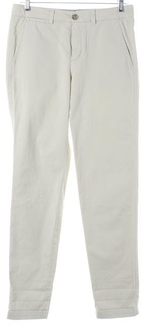 VINCE Beige Khaki Stretch Cotton Slim Leg Chinos Pants