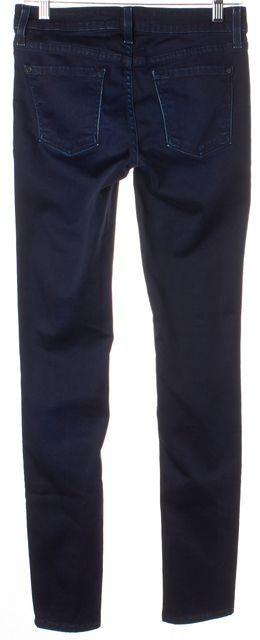 VINCE Midnight Oil Blue Stretch Cotton Vintage Boy Skinny Jeans