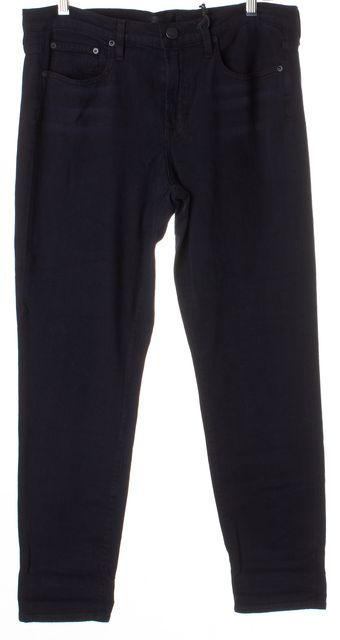 VINCE Black Mason Mid-Rise Rolled Relaxed Jeans