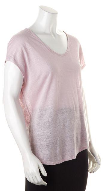 VINCE Lavender Purple Scoop Neck Cap Sleeve Basic T-Shirt