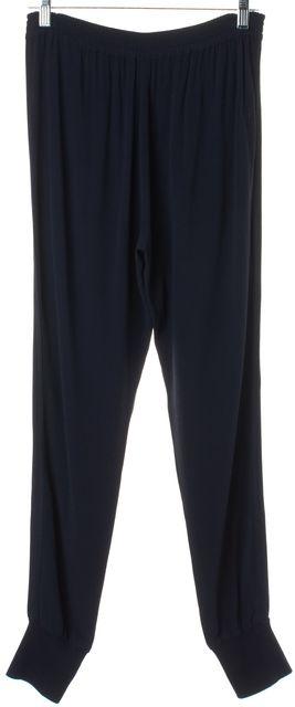 VINCE Navy Blue Elastic Waist Tuxedo Stripe Casual Jogger Pants