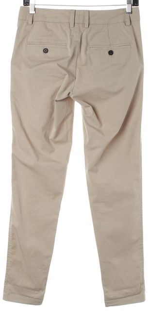 VINCE Beige Stretch Cotton Skinny Chino Pants