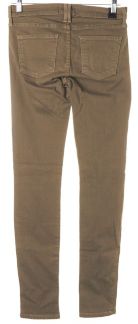 VINCE Khaki Brown Stretch Cotton Mid-Rise Skinny Jeans