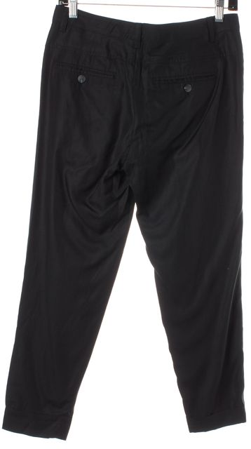 VINCE Black Cropped Trouser Dress Pants