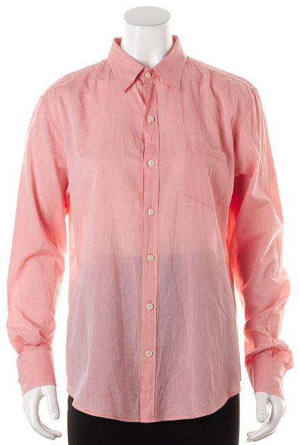 VINCE Pink Cotton Long Sleeve Button Down Shirt Top