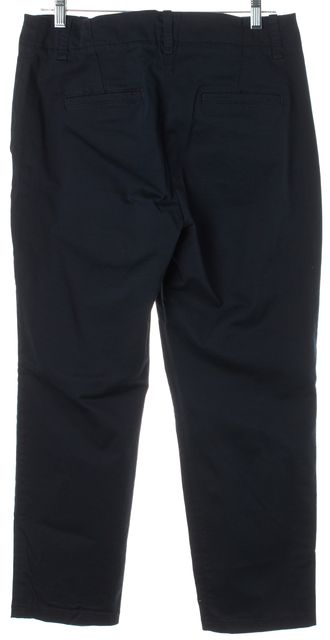 VINCE Navy Blue Cropped Straight Leg Chino Pants