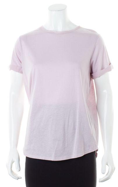 VINCE Lavender Purple Cotton Short Sleeve Basic T-Shirt