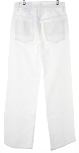VINCE Optic White Cotton Denim High-Waisted Wide Leg Jeans