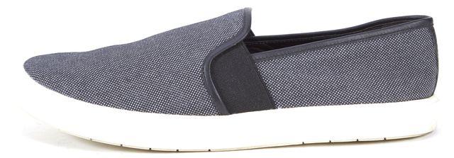 VINCE Navy Blue Black Canvas Preston Slip-on Sneakers
