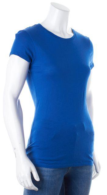 VINCE Bright Blue Basic Short Sleeve Tee T-Shirt