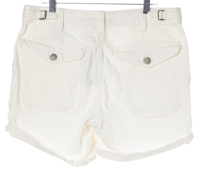 VINCE White Denim Shorts