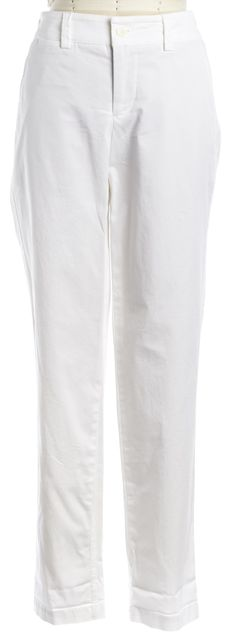 VINCE White Cotton Five Pocket Casual Pants