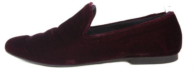 VINCE Purple Wine Velvet Loafers