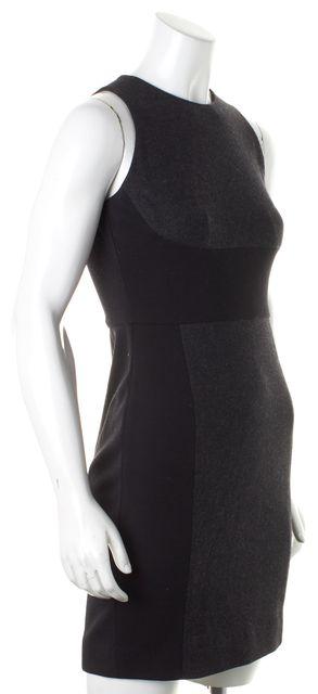 VINCE Gray Black Color Block Sleeveless Stretch Sheath Dress