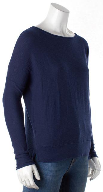 VINCE Blue Long Sleeve Knit Top