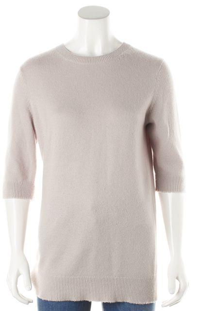 VINCE Lavender Pink Crewneck 3/4 Length Sleeve Knit Sweater