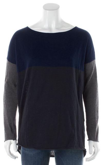 VINCE Cobalt Blue Gray Crewneck Sweater