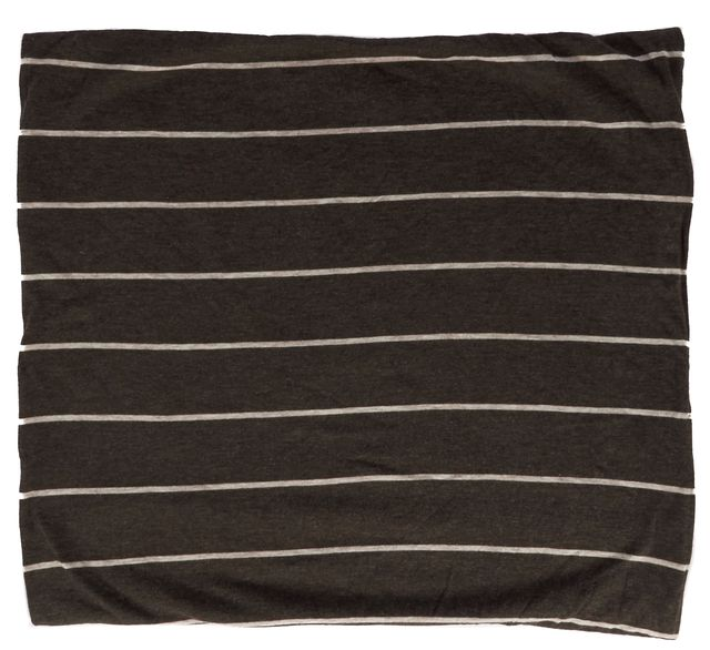 VINCE Brown Striped Infinity Scarf