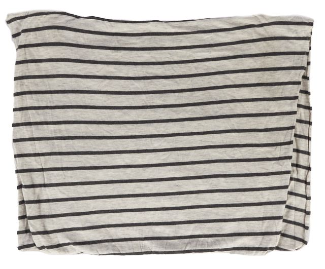 VINCE Gray Striped Infinity Scarf