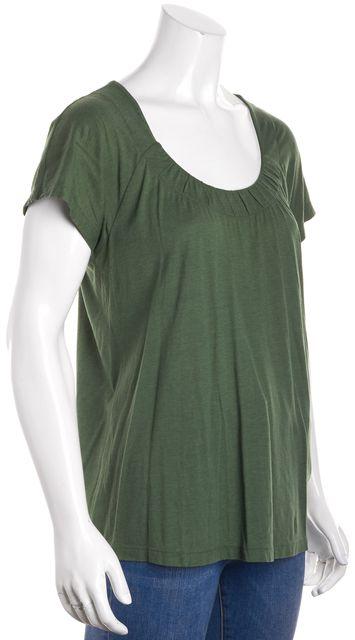VINCE Green Basic Jersey Knit Short Sleeve T-Shirt