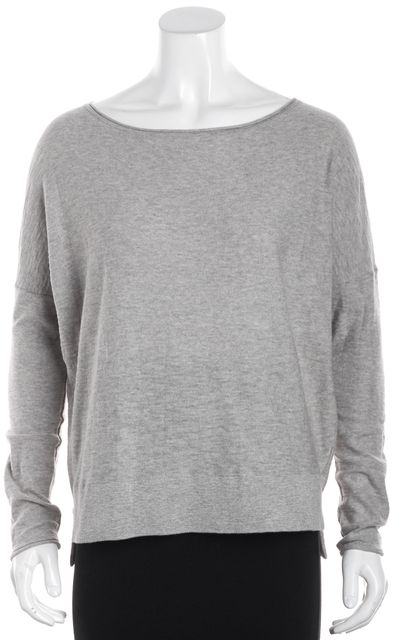 VINCE Gray Thin Knit Crewneck Sweater