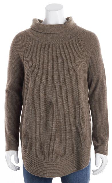 VINCE Beige Wool Turtleneck Sweater