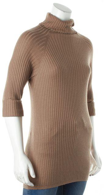 VINCE Brown Turtleneck Knit Top