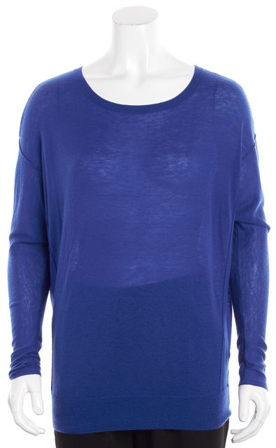 VINCE Cobalt Blue Long-Sleeve Dolman Sweater