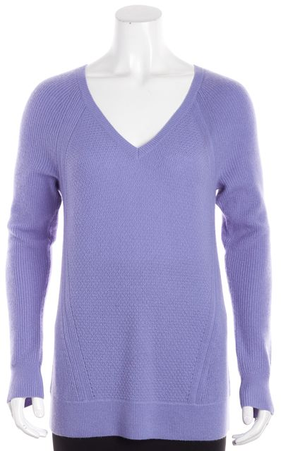 VINCE Lavender Purple Knitted V-Neck Sweater