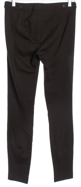 VINCE Brown Stretch Pleated Casual Skinny Pants