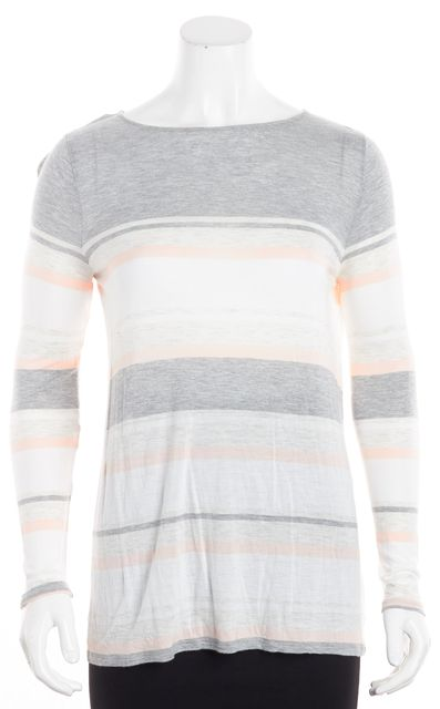 VINCE Multi-color Striped Knit Top