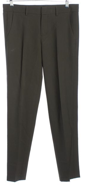 VINCE Olive Green Slim Straight Dress Pants