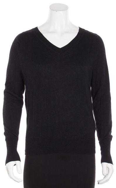 VINCE Black Cashmere V-Neck Sweater