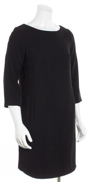 VINCE Black 3/4 Sleeve Shift Dress